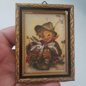 💚Vintage Hummel tiny picture frame